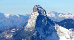 Matterhorn as seen on our guided and self-guided Walker's Haute Route trek from Chamonix to Zermatt